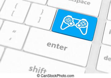 tastatur, spiel, computerikon, polster