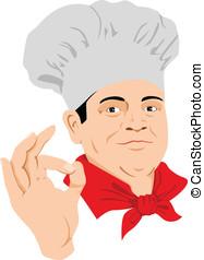 Taste Good - Vector illustration of a Chef