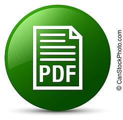 taste, grün, pdf, dokument, runder , ikone