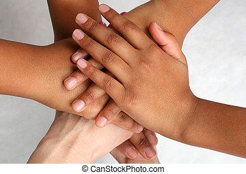 taste, mensen, bovenzijde, hand, anderen, elke