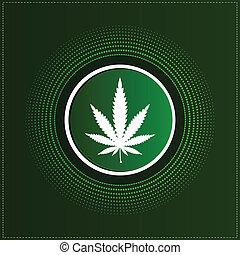 taste, mit, cannabis blatt