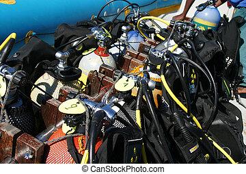 taste, scuba-uitrustingstoestel