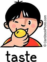 Taste Sense icon - Icons of one of five senses - taste....