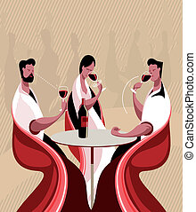 Taste wine - The three steps in tasting a wine are sight,...