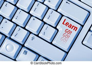 tastiera, chiave, imparare