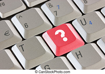 tastiera, domanda, chiave calcolatore