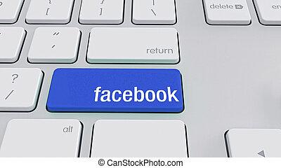 tastiera, facebook