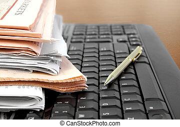tastiera, giornali