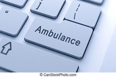 tastiera, parola, ambulanza, computer, bottone