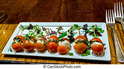 Tasting at the Ritz-Carlton - Tomato with cheese food