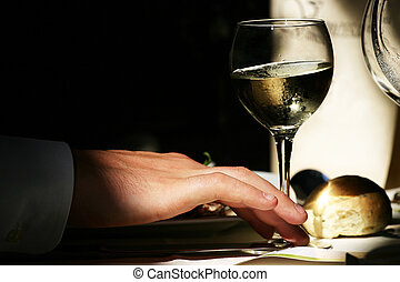 Tasting - some wine tasting for a wedding ceremony