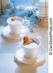 Tasty and sweet two gingerbread man for Christmas