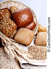 tasty baked with ears of wheat