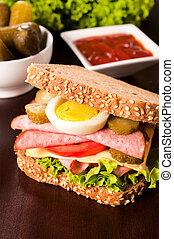 Tasty big sandwich