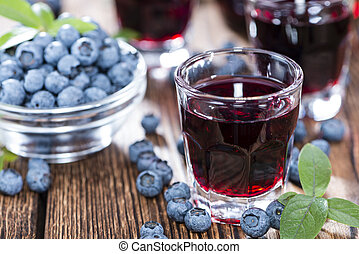 Tasty Blueberry Liqueur - Blueberry Liqueur with some fresh ...