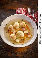 Tasty bowl of seasonal spring soup