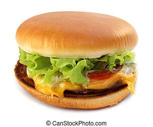 Tasty burger - Tasty big burger on white background