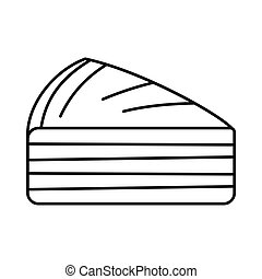 Tasty cake icon in outline style vector illustration for design and web isolated