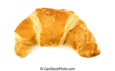 Tasty croissant isolated on white
