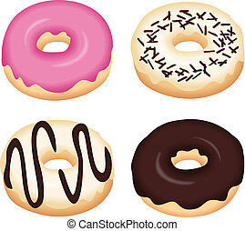 Image representing a tasty donuts, isolated on white, vector design.