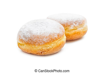 Tasty donuts - Two tasty donuts isolated on white background...