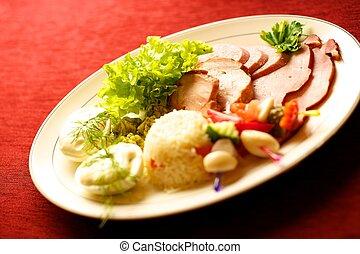Tasty food on a table