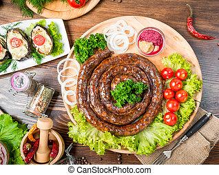 tasty food on the table