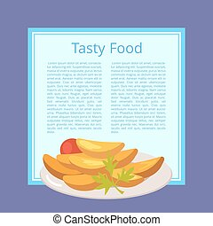 Tasty Food Poster with Roasted Potatoes on Plate - Tasty...