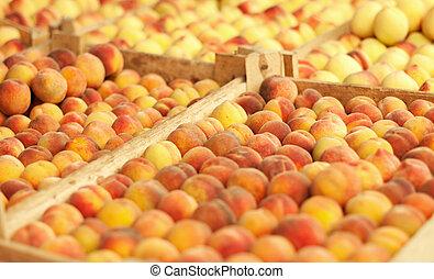 Tasty fresh peach background