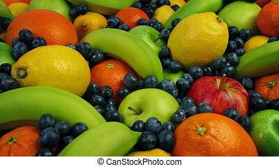 Tasty Fruit Banquet - Feast of apples, lemons, orange,...