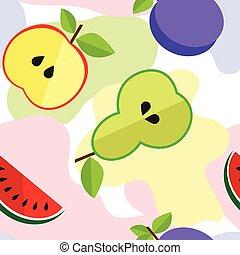 Tasty fruit pattern for your design