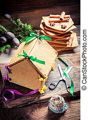 Tasty gingerbread cottage for Christmas