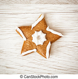 Tasty gingerbread star, Christmas symbol