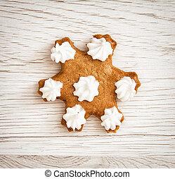 Tasty gingerbread star, Christmas theme