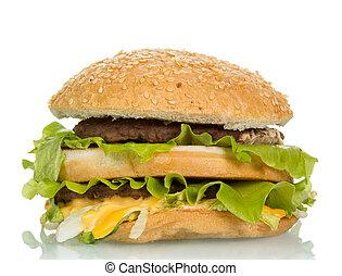 Tasty hamburger sandwich