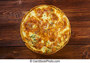 quiche with halibut - tasty homemade quiche with halibut. ...