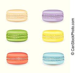 Tasty macarons set