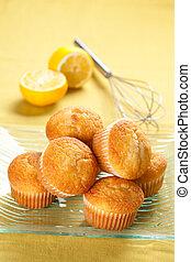tasty magdalena, homemade sweet with lemon and sugar