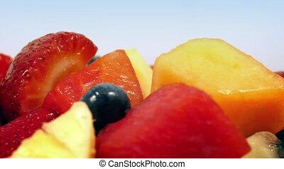 Tasty Mixed Fruit Rotating Closeup