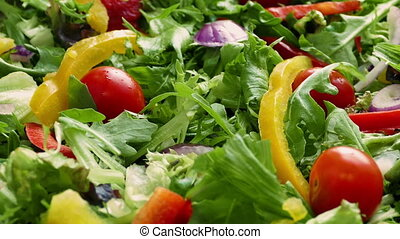 Tasty Mixed Salad Rotating - Fresh mixed salad with peppers...