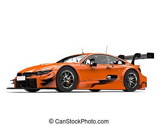 Tasty orange modern super race car - studio shot