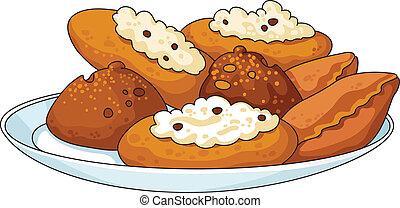 tasty pastry - illustration of a tasty pastry