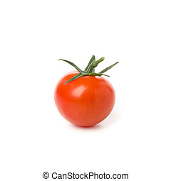 Tasty red tomato isolated on white background