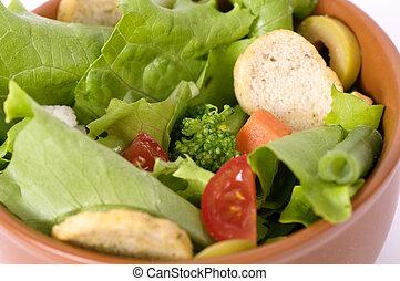 Tasty Salad on white background