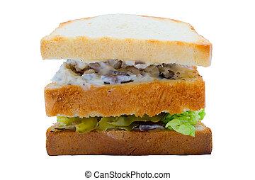Tasty sandwish with chiken