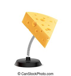 Tasty souvenir - Table souvenir in form of cheese piece on...