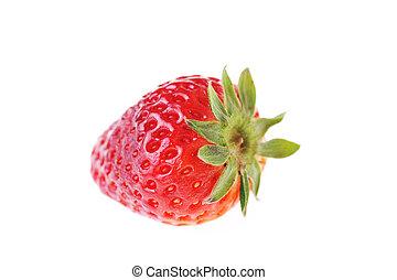 tasty strawberry - closeup of fresh and tasty strawberry...