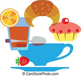 tasty tipical american breakfast set - 2