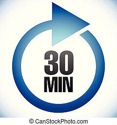 (tat), 要求, 持続時間, 完成, 30, 分, 処理, latency, icon., 時間, 間隔, customer., リターン, 満足がいく, ターンアラウンド