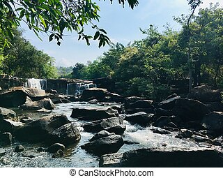 Beautiful waterfall at Tat Ton national park in Chaiyaphum province Thailand